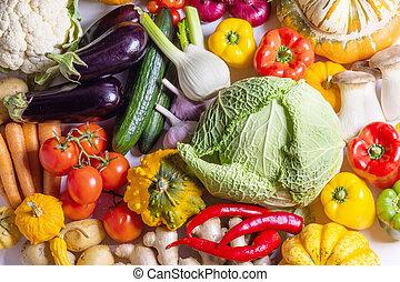 Harvest vegetables background