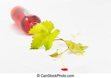 harvest wine isolated on white