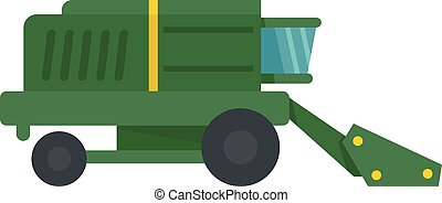 Harvester icon, flat style - Harvester icon. Flat...