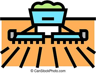 harvesting equipment color icon vector illustration