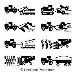 Harvesting of agriculture - Crop growing and harvesting of...