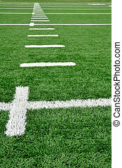 Hash Marks on American Football Field - Hash Marks on an...