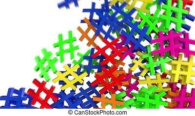 Hash tag hashtag fill tweet twitter social media network...