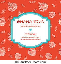 "hashana, rosh, saludo, pommegranate, year"", ""happy, nuevo, (..."