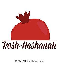 hashanah, plano de fondo, rosh