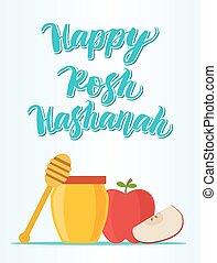hashanah, rosh, felice