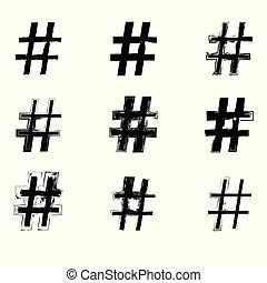 hashtag, 印