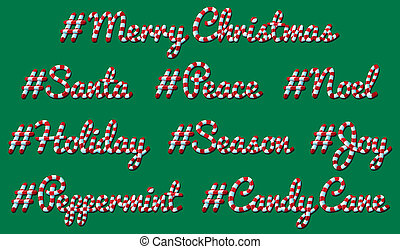 Hashtag Christmas Candy Cane