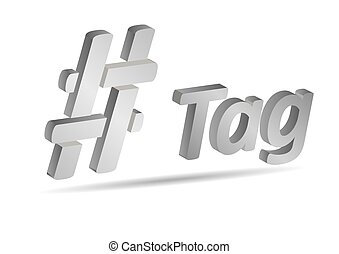 Hashtag, communication sign