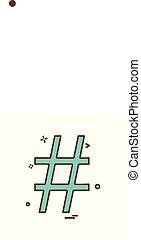 Hashtag icon design vector