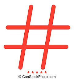 Hashtag icon . Different color .