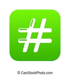 Hashtag icon green