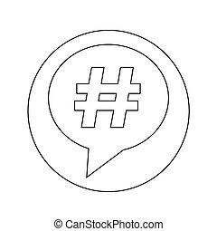 hashtag icon illustration design