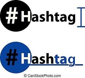 Hashtag icon isolated on white background.