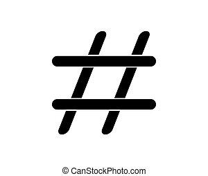 Hashtag Icon Vector Logo Template Illustration Design