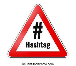 hashtag, segno, pericolo