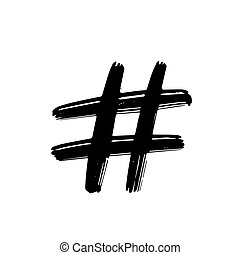 Hashtag sign icon vector illustration on white background.