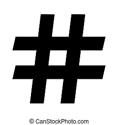 hashtag symbol on a white background