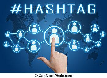 Hashtag text concept
