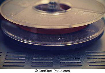 haspel, registreerapparaat, cassette