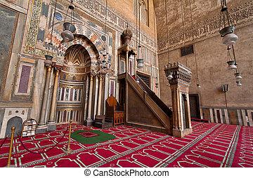 hassan, mesquita, egito, cairo, sultão