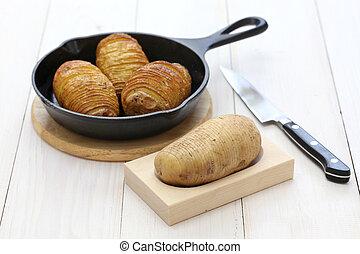 hasselback potatoes, swedish food