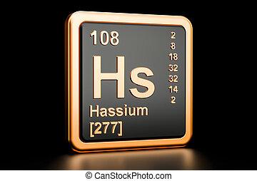 Hs ilustracin elemento qumico tabla peridica hassium 3d hassium hs qumico element 3d interpretacin urtaz Gallery