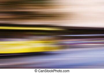 hastighed, bus, abstrakt