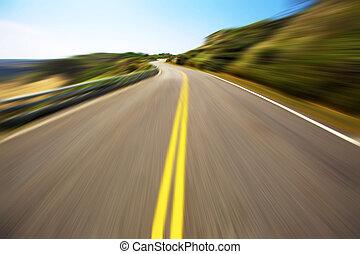 hastighed, hight, kørende