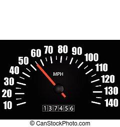 hastighetsmätare, illustration