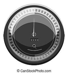 hastighetsmätare, till räkna, hastighet, ikon