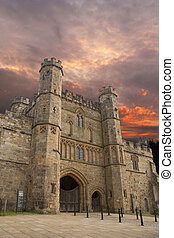 Hastings Battle Abbey - Exterior of the famous abbey built...