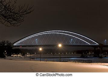 Hastings Bridge and Park at Night