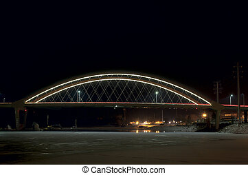 Hastings Bridge Illuminated at Night