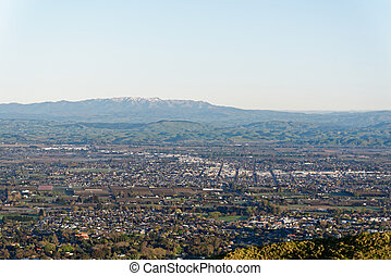 Hastings, Hawkes Bay aerial view, New Zealand