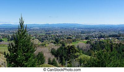 Hastings viewed from Te Mata Peak - Hastings, Hawkes Bay ...