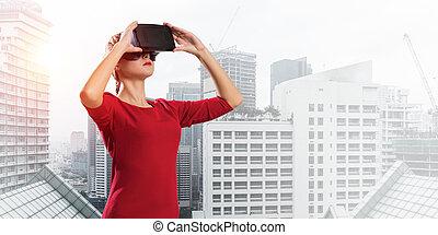 használ, technologies, modern