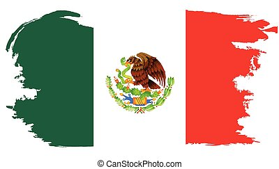 határ, mexican lobogó, grunge