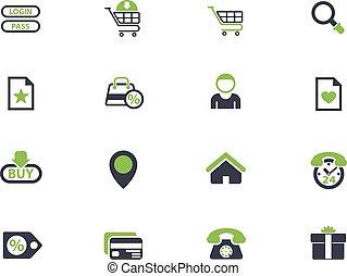 határfelület, e-commerce, állhatatos, ikon