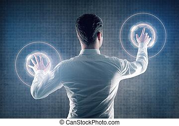 határfelület, ember, digitális