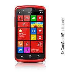 határfelület, modern, touchscreen, smartphone