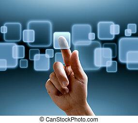 határfelület, touchscreen