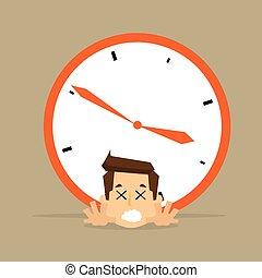 határidő, üzletember, felett, óra, övé, hát, nagy, fogalom