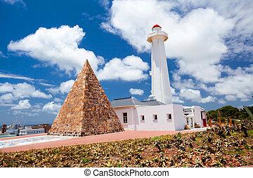 határkő, közül, port elizabeth, dél-afrika