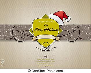 hat., クリスマスカード, 赤