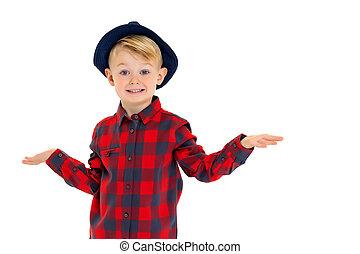 hat., 小さい 男の子