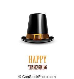 hat., 感謝祭, シンボル。, 巡礼者