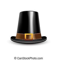 hat., acción de gracias, símbolo., peregrino