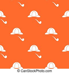 Hat and pipe pattern seamless