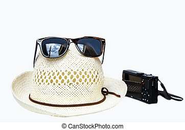 Hat and sunglass for holiday